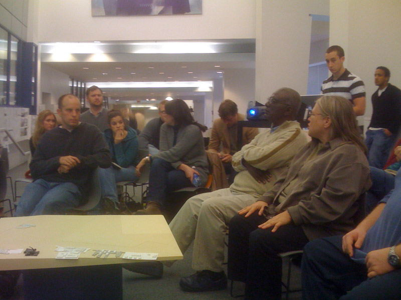 Meeting with studio, members of Village Life Outreach and Tanzanian non-profit SHED - 2008