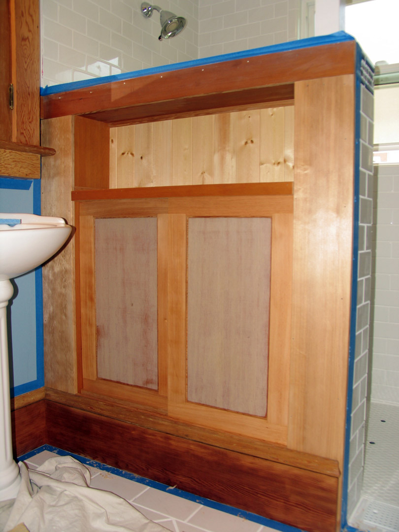 Lewis bathroom renovation cabinetry