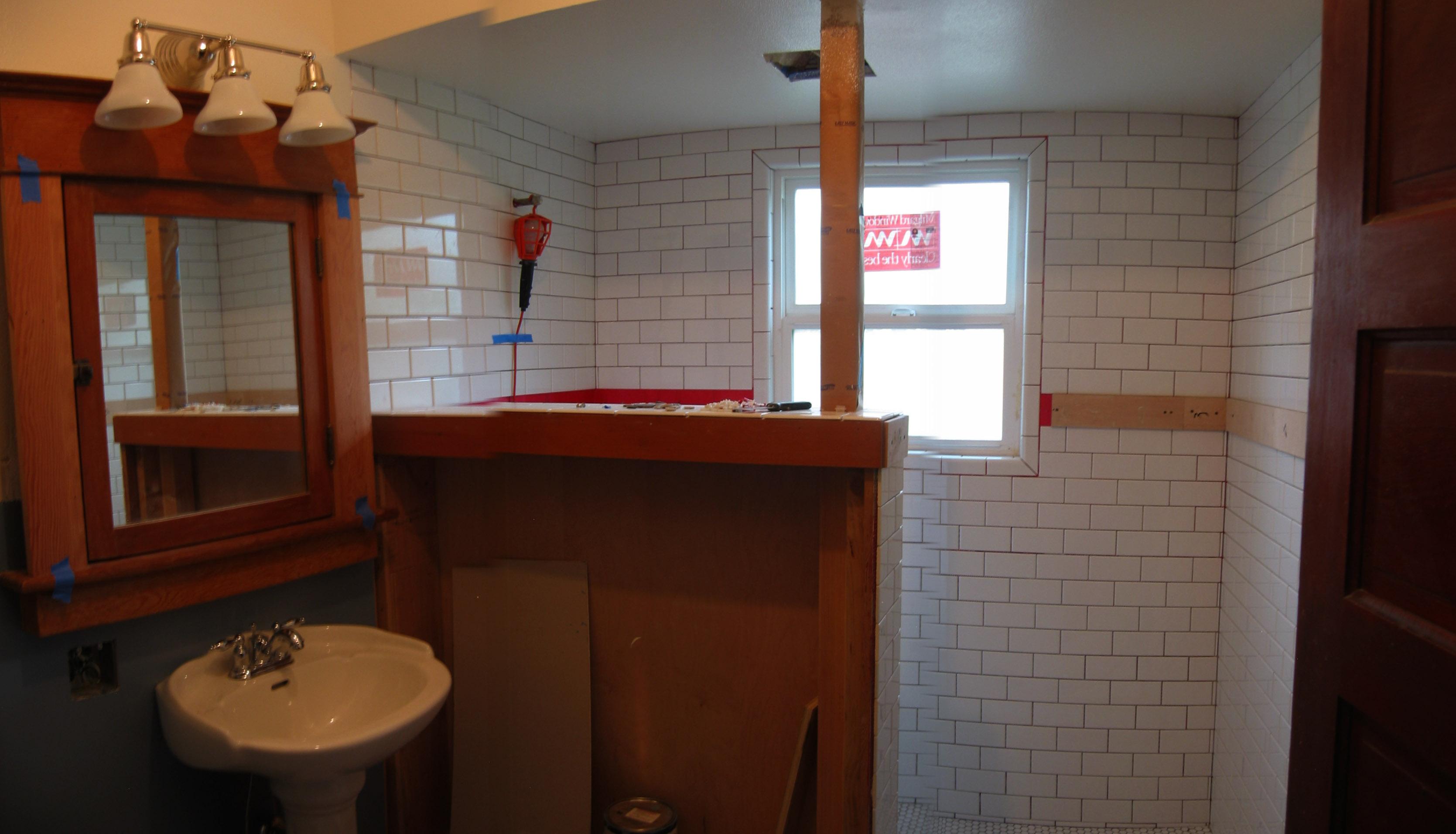 Lewis bathroom renovation construction